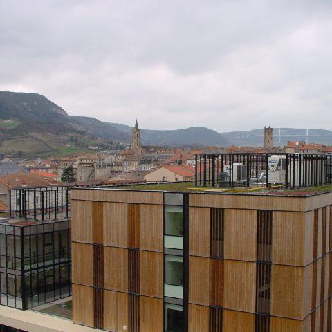 Réalisation d'une toiture terrasse inaccessible végétalisée pour le Pôle d'Enseignement Supérieur de Millau (12)